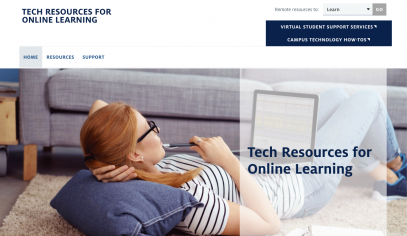 Tech Resources for Online Learning website