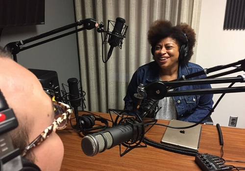 An interview in the Audio Studio